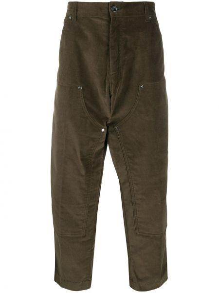 Zielone spodnie z wysokim stanem bawełniane Lc23