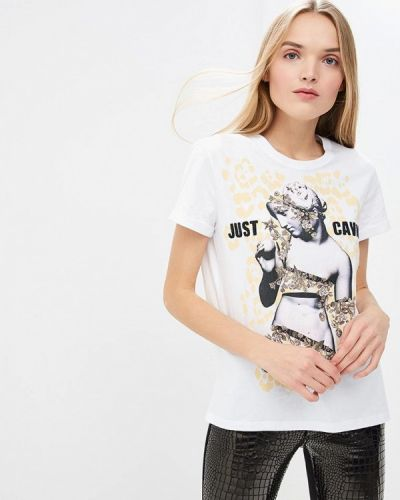 Белая футболка 2019 Just Cavalli