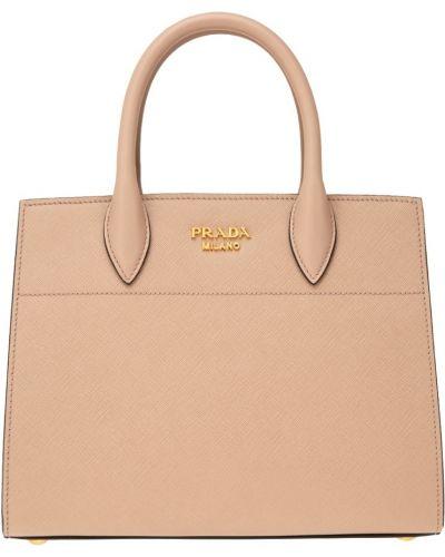 Кожаный сумка на руку с ручками Prada