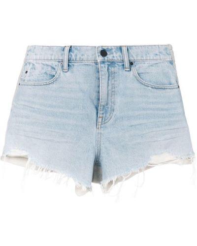 Синие джинсовые шорты Alexander Wang