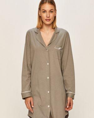 Koszula nocna bawełniana z długimi rękawami zapinane na guziki Aruelle