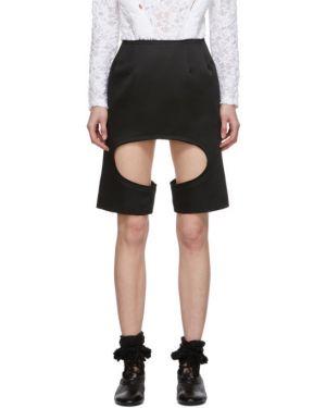 Satyna czarny spódnica mini Comme Des Garcons