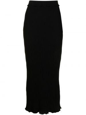 С завышенной талией трикотажная черная юбка миди Altuzarra