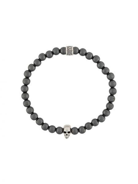 Серебряное ожерелье металлическое с черепами Northskull