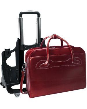 Czarna torba podróżna skórzana elegancka Mcklein