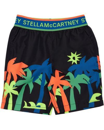 Czarny spodenki do pływania na gumce Stella Mccartney Kids