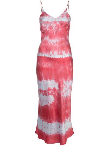 Sukienka z jedwabiu z dekoltem w serek Dannijo