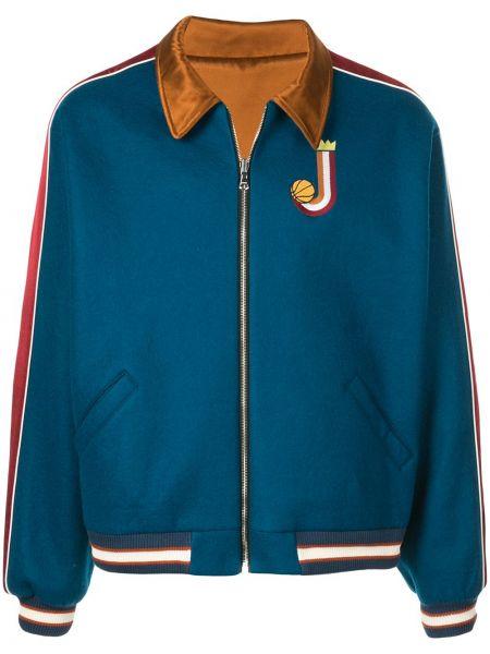 Klasyczna brązowa kurtka z haftem Just Don