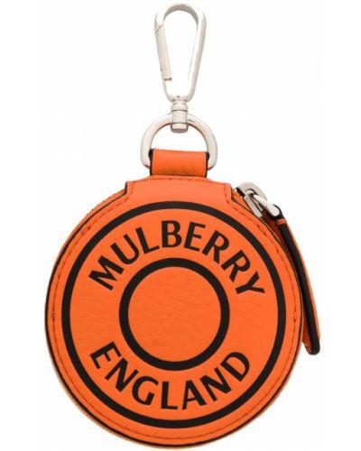 Брелок с логотипом черный Mulberry