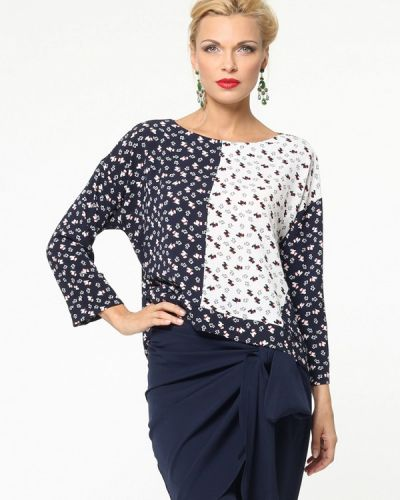 Блузка с длинным рукавом синяя Kata Binska