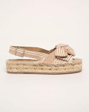 Beżowe sandały na platformie Corina