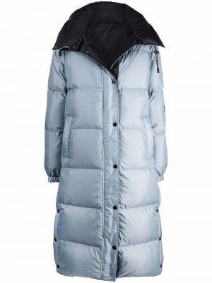Синее пальто из полиэстера Yves Salomon