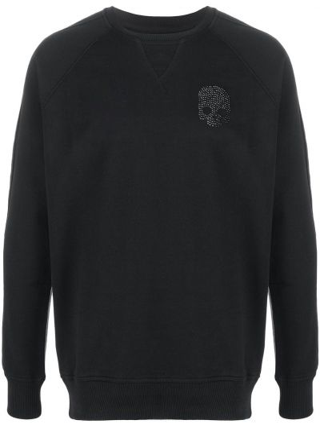 Czarna bluza bawełniana z raglanowymi rękawami Hydrogen