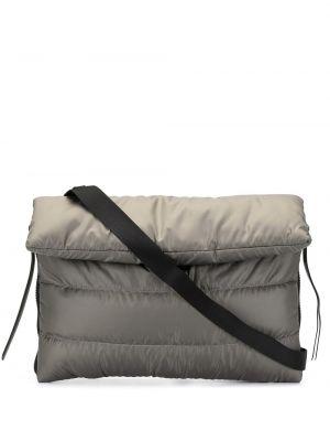 Серая стеганая сумка через плечо с перьями на молнии Discord Yohji Yamamoto