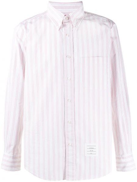 Koszula z długim rękawem klasyczna beżowy Thom Browne