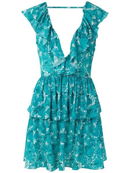 Шелковое платье - синее Adriana Degreas
