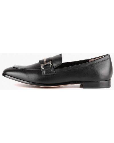 Черные кожаные лоферы Leberdes