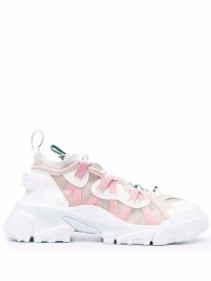 Białe buty sportowe skorzane Mcq