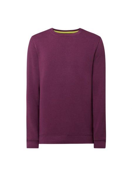 Prążkowana fioletowa bluza bawełniana Mcneal