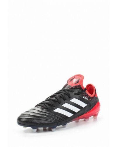 Черные бутсы Adidas