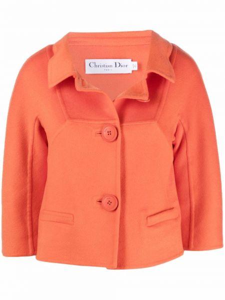 Pomarańczowa kurtka Christian Dior