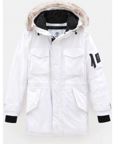 Утепленная белая куртка из искусственного меха Timberland