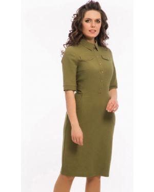 Повседневное платье мини - зеленое Modellos