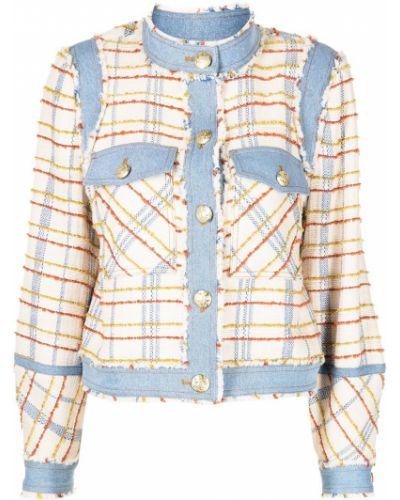 Синяя джинсовая куртка с воротником твидовая Veronica Beard
