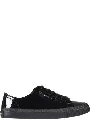 Кожаные кеды - черные Calvin Klein Jeans