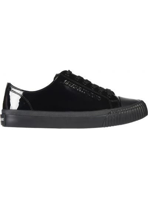 Кеды лаковые черные Calvin Klein Jeans