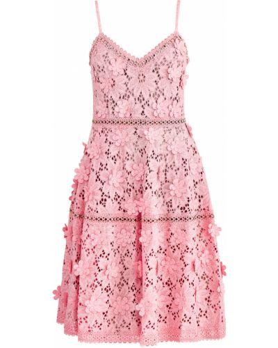 Платье розовое с цветочным принтом Michael Michael Kors