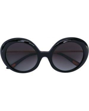 Черные солнцезащитные очки металлические с завязками Christian Roth
