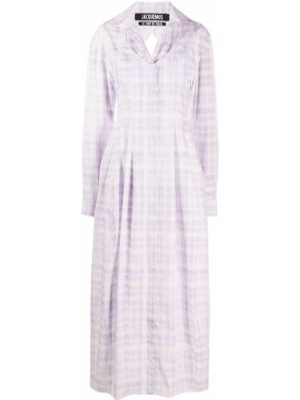 Платье в клетку фиолетовый Jacquemus