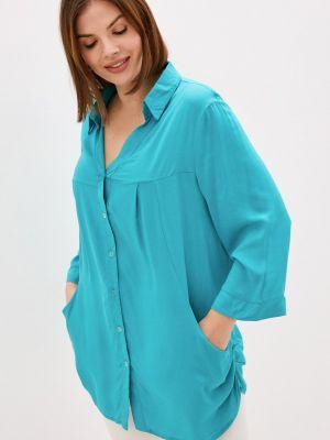 Бирюзовая блузка осенняя Prewoman