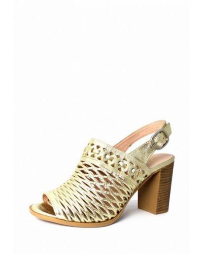 Босоножки на каблуке золотого цвета Blizzarini