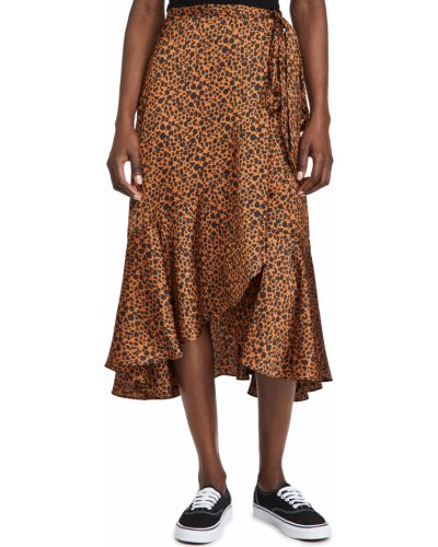 Асимметричная сатиновая юбка стрейч Scotch & Soda