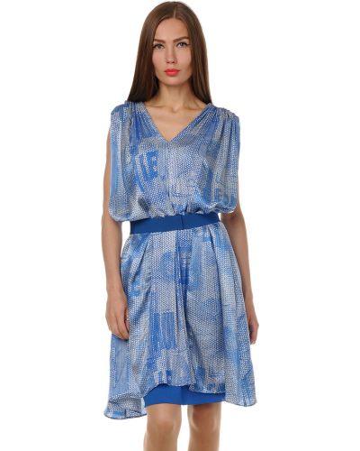 Платье из вискозы - синее Jean Paul Gaultier
