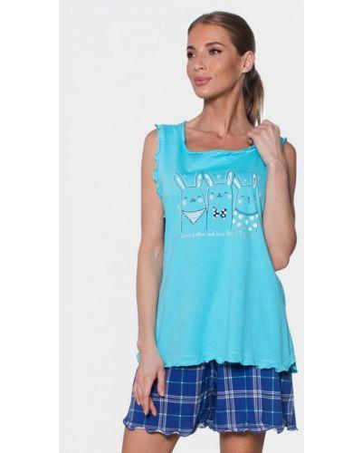 Пижамная синяя пижама Vienetta