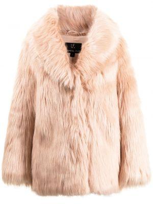 Różowa długa kurtka z długimi rękawami Unreal Fur