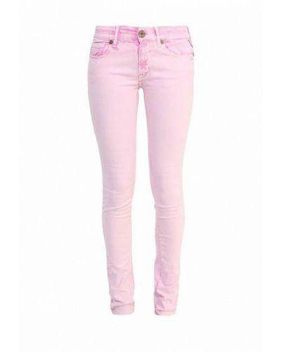Розовые джинсы-скинни Replay