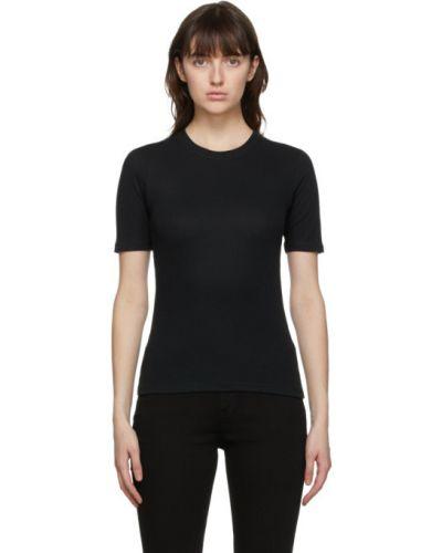 Bawełna czarny koszula z krótkim rękawem z kołnierzem krótkie rękawy Rag & Bone