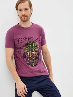 Фиолетовая зимняя футболка J.b4