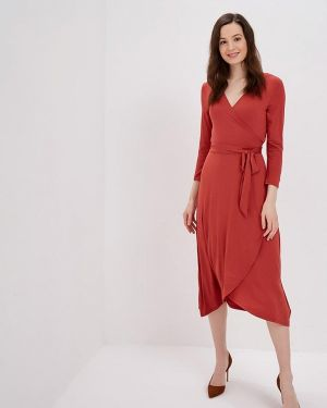 Платье с запахом коралловый Gap