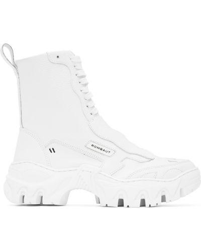 Białe sneakersy skorzane Rombaut