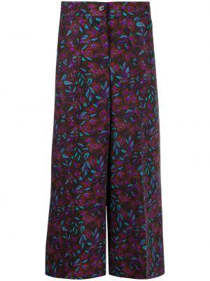 Bezpłatne cięcie wełniany spodnie culotte bezpłatne cięcie z paskiem La Doublej
