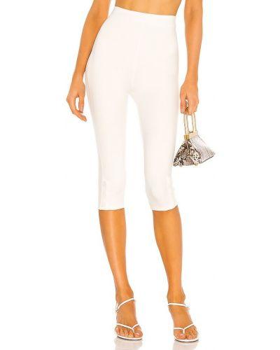Biały nylon spodnie capri w połowie kolana Lovers + Friends