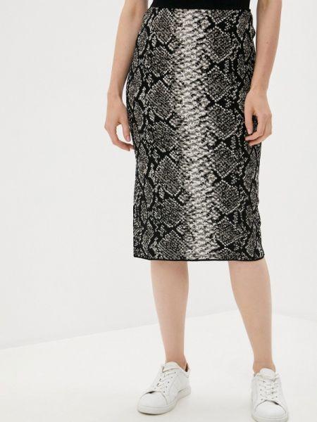 Черная прямая спортивная юбка карандаш Escada Sport