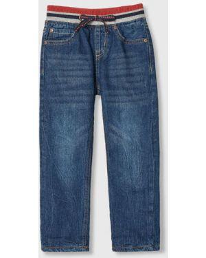 Прямые синие флисовые джинсы с подкладкой Ostin
