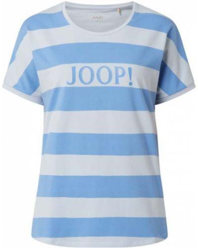 Niebieski t-shirt w paski bawełniany Joop! Bodywear