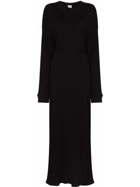 Czarna sukienka bawełniana Baserange
